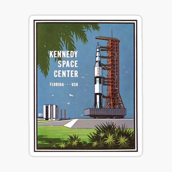 NASA KENNEDY SPACE CENTER US ROCKET MOON STICKER DECAL 100MM