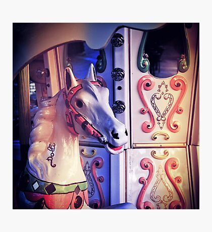 Carousel horse Photographic Print