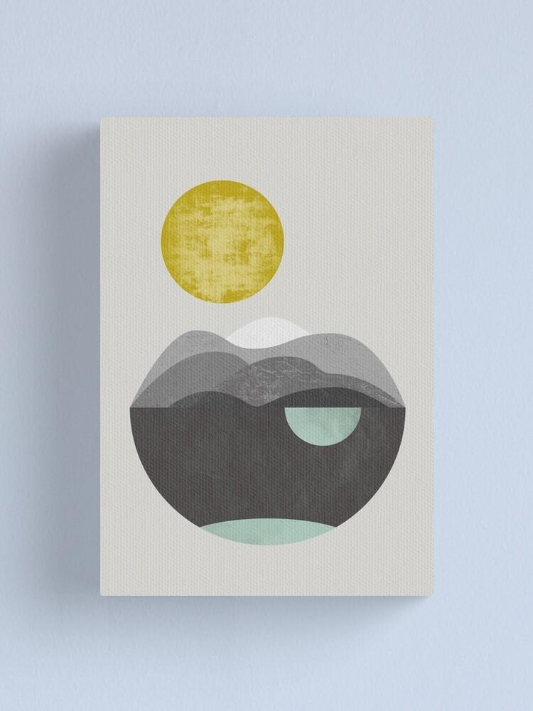 Alternate view of Dunes, geometric art Canvas Print