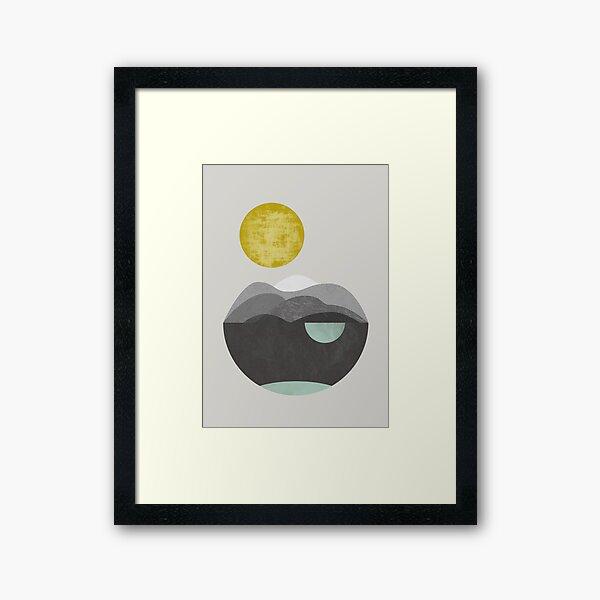 Dunes, geometric art Framed Art Print