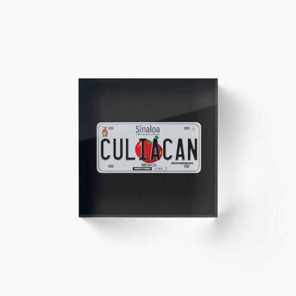 Culiacan Sinaloa License Plate Design Acrylic Block