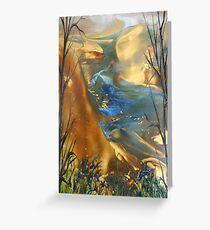 The Beginning - Encaustic Painting Greeting Card