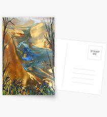 The Beginning - Encaustic Painting Postcards