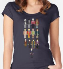 Doctor Who Minimalist Women's Fitted Scoop T-Shirt