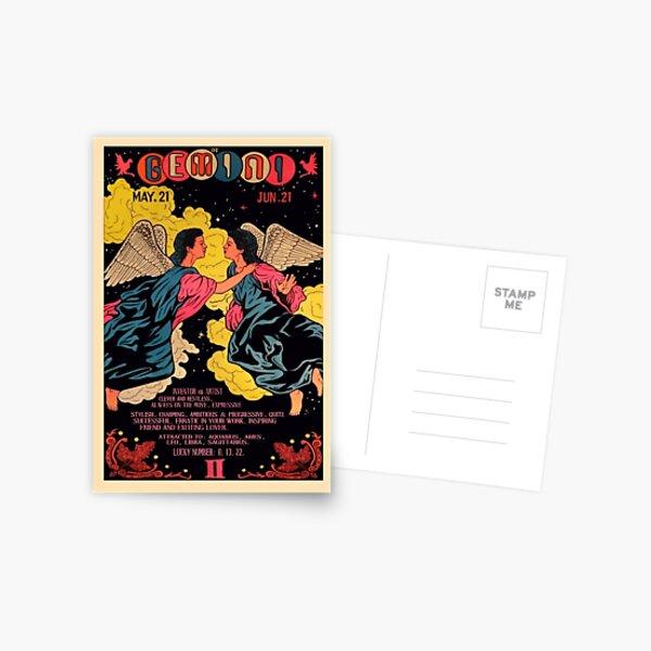 vintage gemini poster Postcard