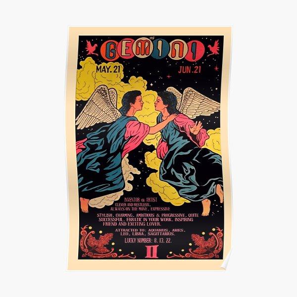 vintage gemini poster Poster