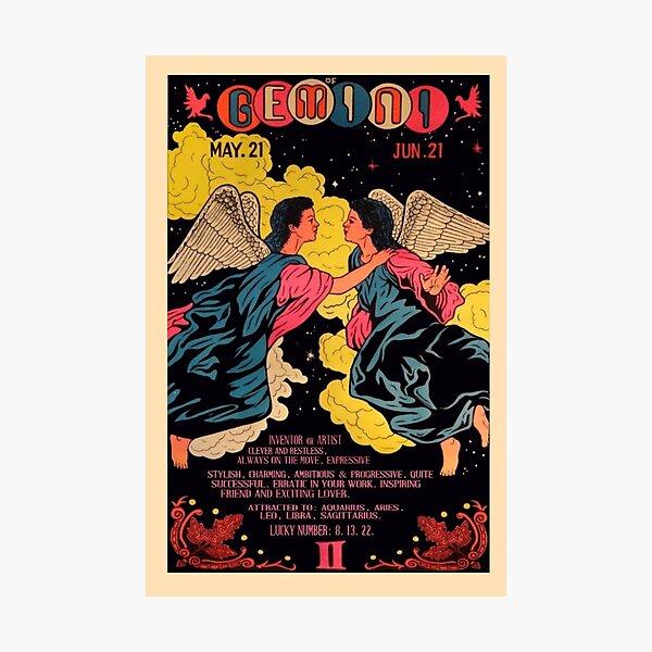 vintage gemini poster Photographic Print