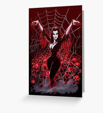 Vampira Spider web gothic Greeting Card