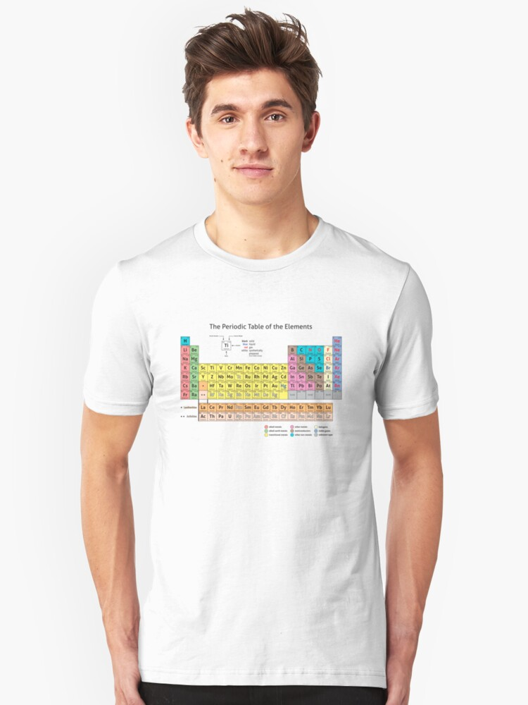 Periodic Table of the Elements  Unisex T-Shirt Front