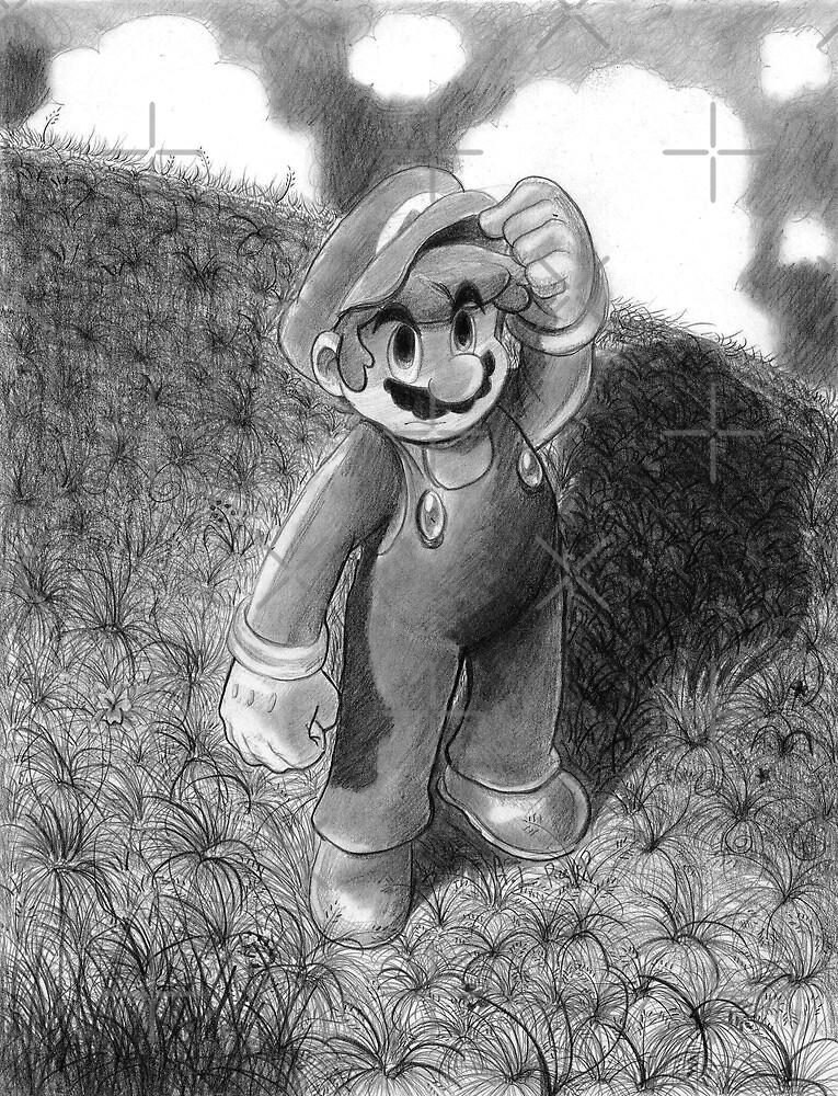 Mario Drawing by SaradaBoru