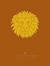 Leo Zodiac / Lion Star Sign Poster by Thoth Adan