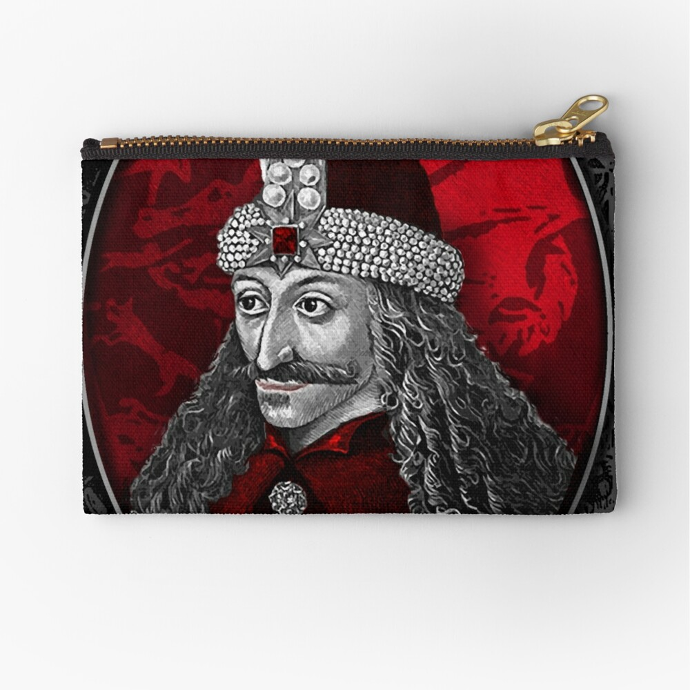 Vlad Dracula Gothic Zipper Pouch