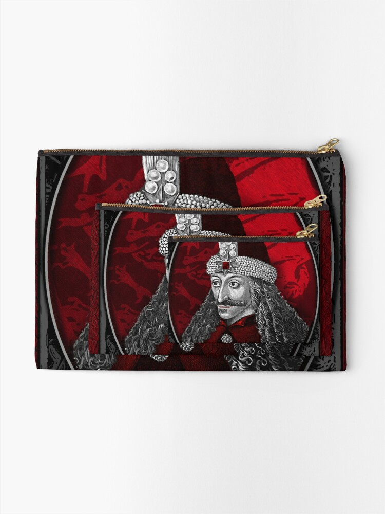 Alternate view of Vlad Dracula Gothic Zipper Pouch