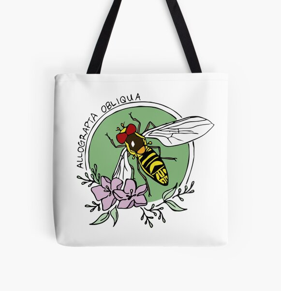 Syrphid Fly  All Over Print Tote Bag