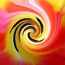 Tulip abstract art by David Carton