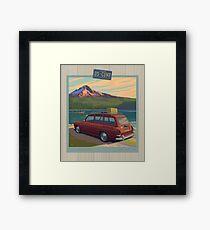 Vintage Squareback at Trillium Lake Framed Print