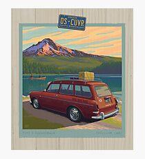 Vintage Squareback at Trillium Lake Photographic Print