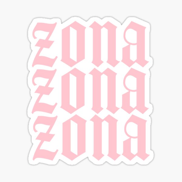 Zona Pink Sticker