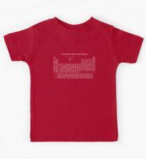 Das Periodensystem der Elemente Kinder T-Shirt