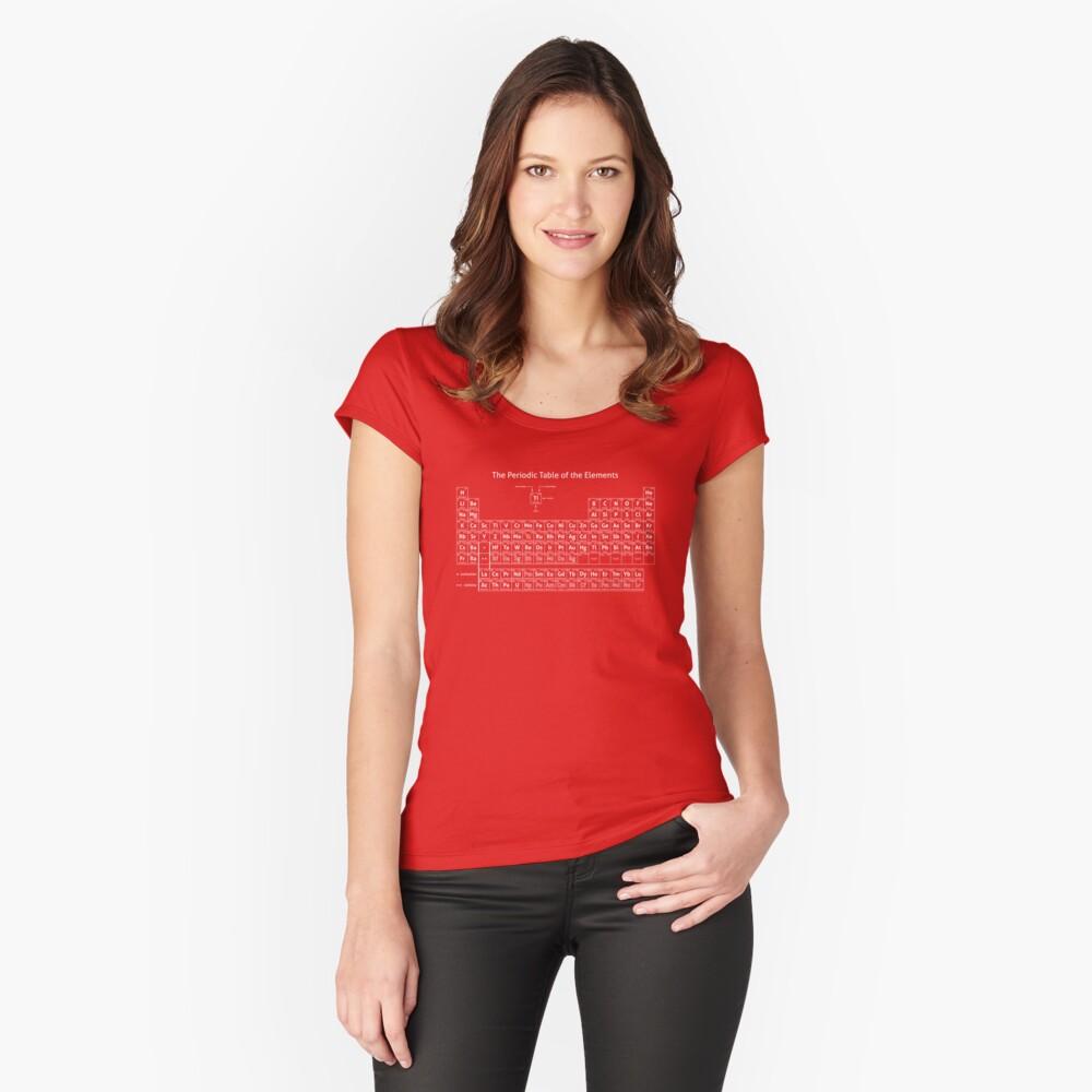 Das Periodensystem der Elemente Tailliertes Rundhals-Shirt