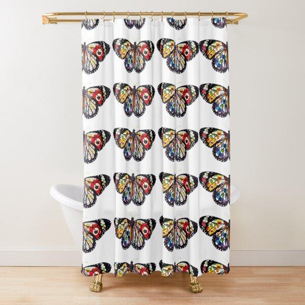 Taskashi Butterfly. Shower Curtain