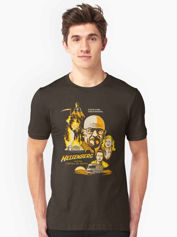 Heisenberg and the Cartel of Death Unisex T-Shirt Front