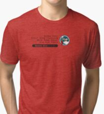 Bombs Away - 321st SQ - 90th BG - 5th AF Emblem (Black) Tri-blend T-Shirt