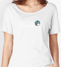 Bombs Away - 321st SQ - 90th BG - 5th AF Emblem (White) Women's Relaxed Fit T-Shirt