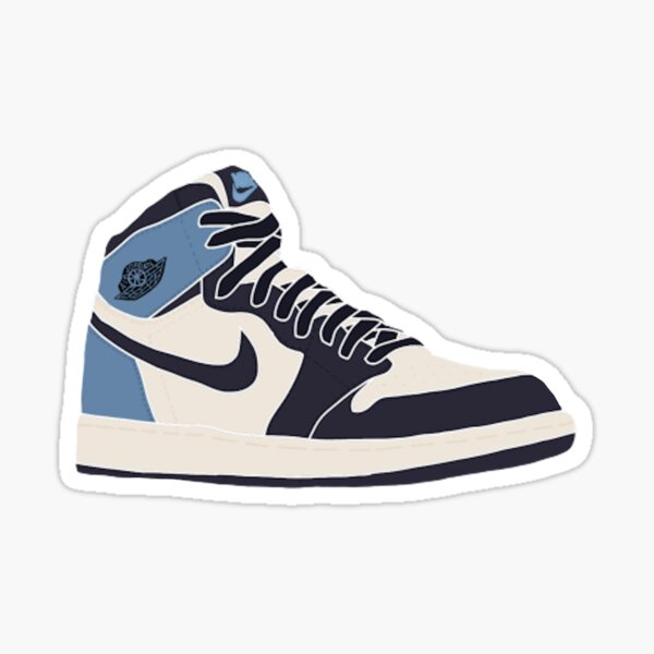 Jordan 1 Retro High Obsidian Sticker