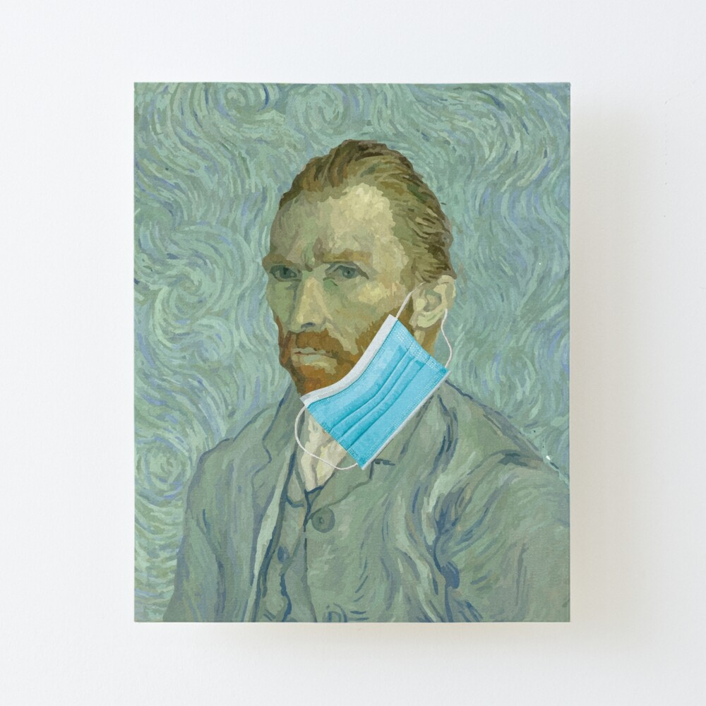 "Funny van gogh face mask"" Art Board Print by handcraftline 