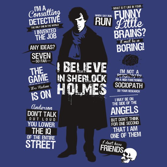 TShirtGifter presents: Sherlock Quotes