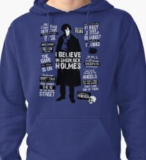 Detective Quotes Pullover Hoodie
