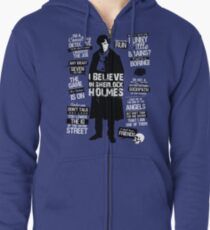 Detective Quotes Zipped Hoodie