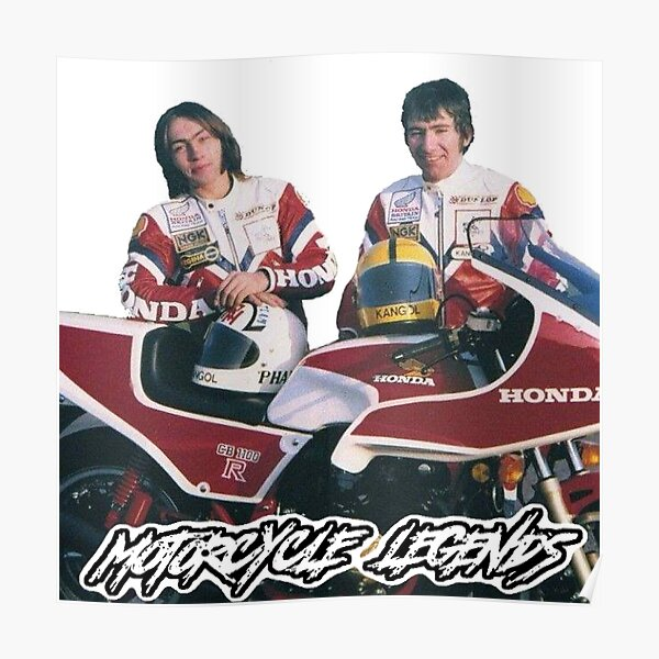 Ron and Joey, Motorcycle Legends Poster