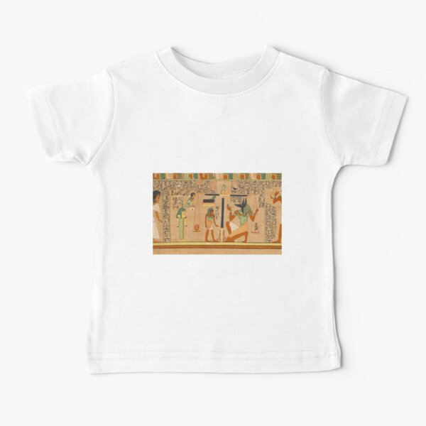 Egyptian Art: Weighing of the Heart in the Duat using the feather of Maat as the measure in balance Baby T-Shirt