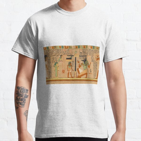 Egyptian Art: Weighing of the Heart in the Duat using the feather of Maat as the measure in balance Classic T-Shirt
