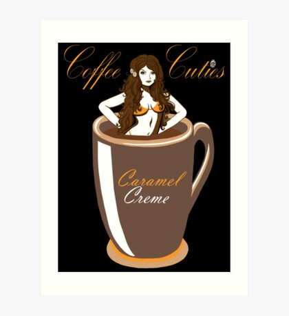 Coffee Cuties Caramel Creme Art Print