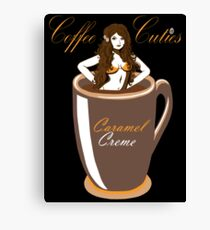 Coffee Cuties Caramel Creme Canvas Print