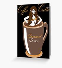Coffee Cuties Caramel Creme Greeting Card