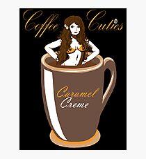 Coffee Cuties Caramel Creme Photographic Print