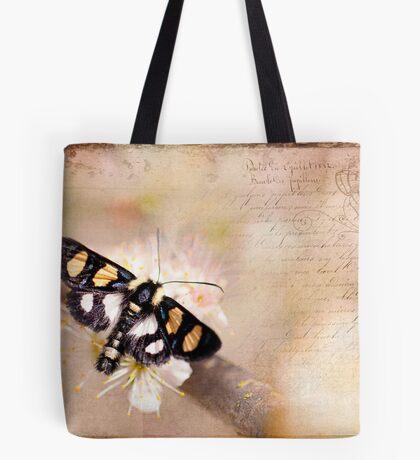 Textured Moth Tote Bag