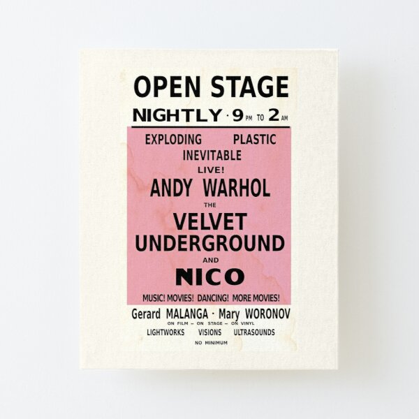 VELVET UNDERGROUND NICO ANDY WARHOL VINTAGE POSTER Canvas Mounted Print