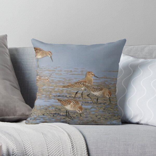 Juvenile Shorebirds Throw Pillow
