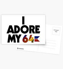 I Adore My 64 (Black) Postcards