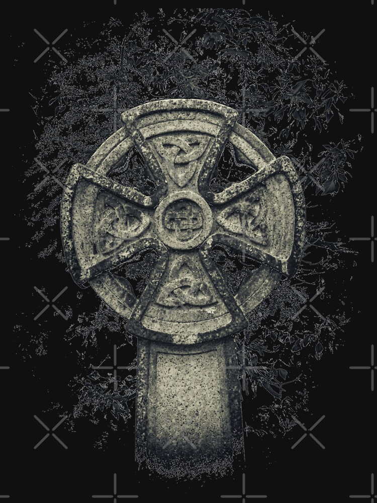 Celtic Cross Graveyard Cemetery Viking Knot Traditional Manx Design by thespottydogg