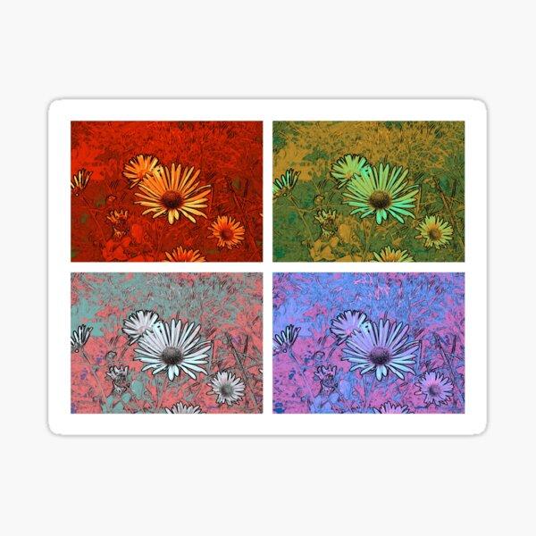 Blütengruß mal 4 Sticker