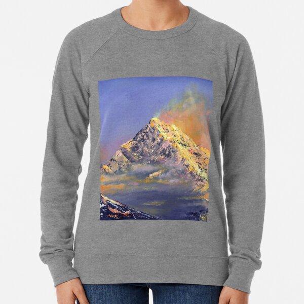 Everest sunrise - oil painting, digital art print Lightweight Sweatshirt