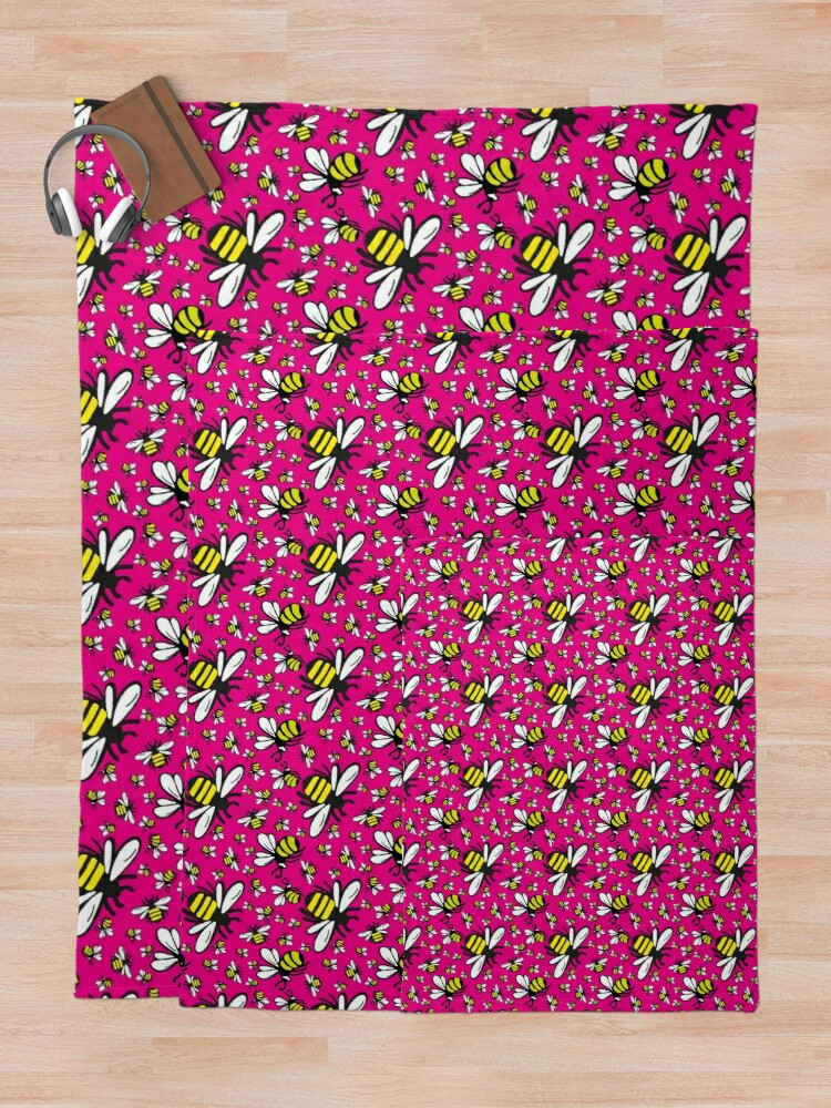 Alternate view of Buzzy Bee and friends Throw Blanket