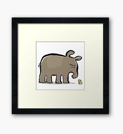 tapir vs cheese Framed Print