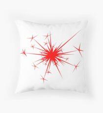 Explosive Firework Throw Pillow